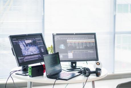 学科の特徴 POINT1 プログラミング技術を高め、ゲームエンジン(UE4)を使いこなし、 「質」の高いオリジナルゲーム作品を作る